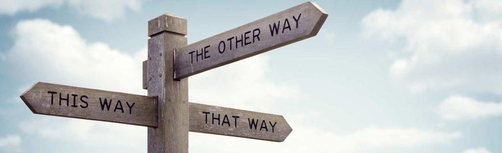 Richtungsweiser für den richtigen Weg